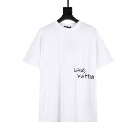 ヴィトン LOUIS VUITTON  新作半袖2色シンプルさ通気スーパーコピー激安Tシャツ工場直営販売