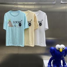 LOEWE ロエベ 春夏新作快適柔軟 Tシャツ半袖プリント3色本当に届くスーパーコピー工場直営優良サイトline