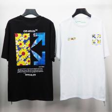 即対応 オフホワイト Off White メンズレディース新作カップルTシャツ半袖ラウンドネック プリント本当に届くスーパーコピー おすすめ国内安全後払いおすすめ店