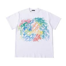ヴィトン LOUIS VUITTON  高品質 人気商品Tシャツ綿2色本当に届くスーパーコピー安全後払いn級品店