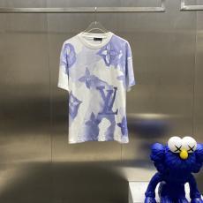 大注目 LOUIS VUITTON ルイヴィトン メンズレディース春夏水彩新作Tシャツ半袖2色セール価格 スーパーコピー販売口コミ店