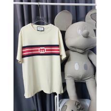 注目商品 GUCCI グッチ Tシャツ半袖ストライププリントスーパーコピー 国内優良サイト届く