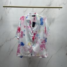 即発注目度NO.13 LOUIS VUITTON ルイヴィトン 水彩半袖半袖シャツファッションカジュアルスーパーコピーTシャツおすすめサイト