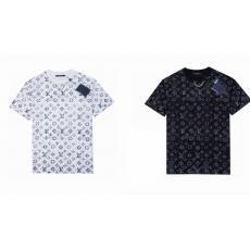 LOUIS VUITTON ルイヴィトン メンズレディース春夏定番新作高級Tシャツ半袖プリント2色ブランドコピーTシャツ安全後払いおすすめサイト