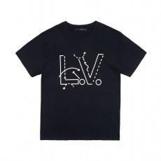 ヴィトン LOUIS VUITTON  Tシャツ綿プリント2色ブランドTシャツ通販