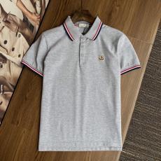 MONCLER モンクレール メンズ春夏通気快適Tシャツ綿半袖4色折り襟ブランドTシャツ工場直営優良店
