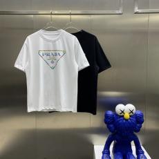 累積売上額TOP13 PRADA プラダ 春夏新作高品質 Tシャツ半袖2色本当に届くブランドコピー 工場直営口コミ国内安全後払い店