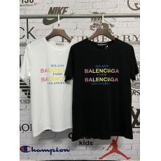 BALENCIAGA バレンシアガ メンズレディース字母ロゴ グラデーションTシャツ半袖スーパーコピーブランド代引き