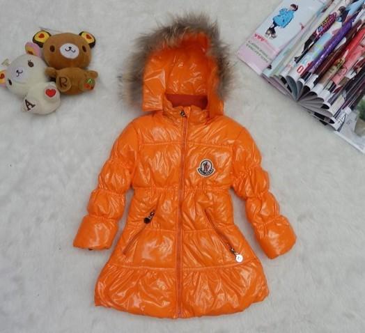 モンクレール キッズ ロングコート moncler-k2051 オレンジ