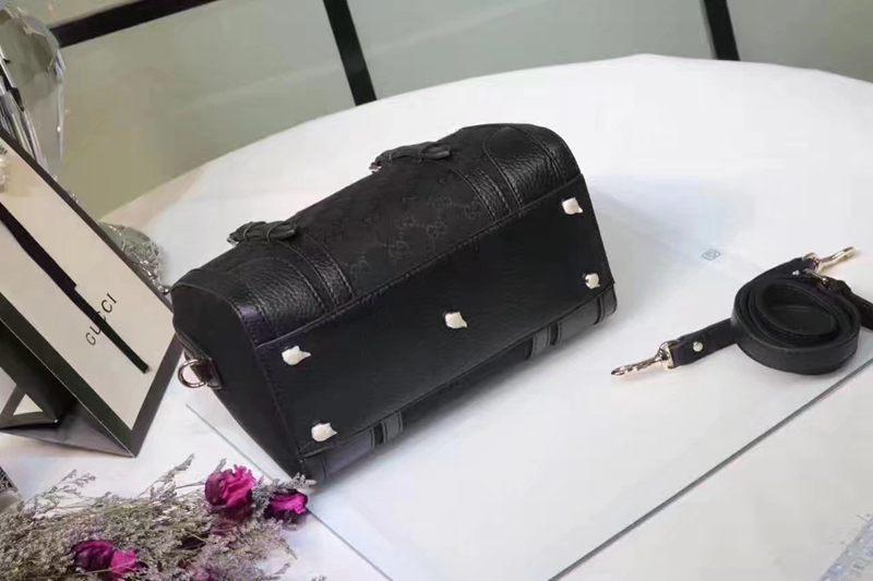 ブランド販売 グッチ  GUCCI  387601 黒色ショルダーバッグ トートバッグスーパーコピーバッグ通販