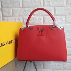 送料無料ルイヴィトン  LOUIS VUITTON セール価格  CAPUCINES レディース 赤色ショルダーバッグ トートバッグ新入荷格安コピー口コミ